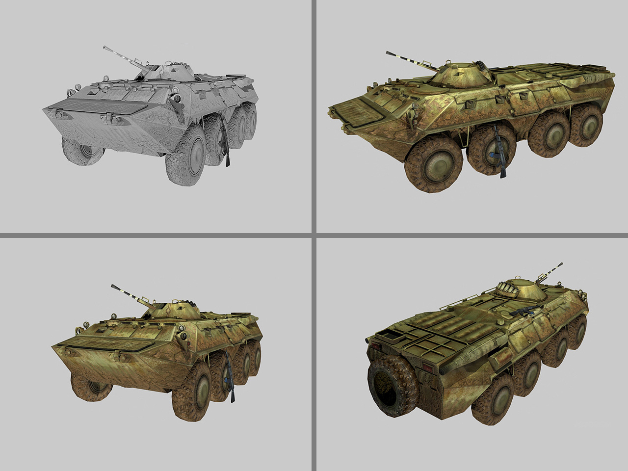 BTR-80 Scene Vignette, created from reference photos and scale model