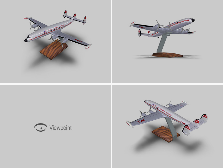3D Models for Display in Viewpoint Media Player
